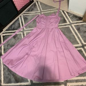 Lavender Myrtle Halter Lindy Bop Dress